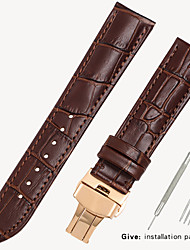 cheap -Leather strap men's leather watch with bracelet accessories ladies substitute dw Tissang Longines Casio Europe and the United States King 18/19/20/21/22mm