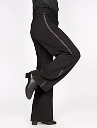 cheap -Latin Dance Bottoms Men's Training / Performance Polyester / Cotton Blend Sashes / Ribbons Natural Pants
