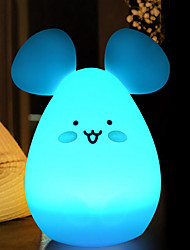 cheap -1pc LED Creative Cute Mouse Night Light Color-changing USB For Children / Creative <=36 V