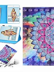 cheap -Case For Apple iPad Air / iPad 4/3/2 / iPad (2018) Wallet / Card Holder / Shockproof Full Body Cases Cartoon / Flower Hard PU Leather / iPad (2017)