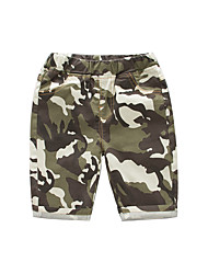 cheap -Kids Boys' Basic Street chic Solid Colored Color Block Patchwork Cotton Shorts Army Green
