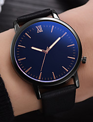 cheap -Men's Dress Watch Analog Quartz Minimalist Water Resistant / Waterproof Creative Casual Watch / One Year / Leather