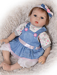 cheap -22 inch Reborn Doll Baby Boy Baby Girl Kids / Teen Adorable Lovely with Clothes and Accessories for Girls' Birthday and Festival Gifts