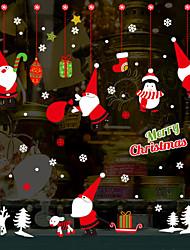 Недорогие -Рождество мультфильм наклейки Санта-Клауса - наклейки на стену самолета транспорт / комната исследования ландшафта / офис / столовая / кухня