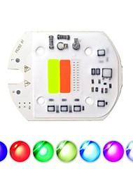 cheap -1pc 8.2cm 30W COB LED Smart IC Chip 220V No Need Driver Integrated Light Source RGB for DIY Spotlight Flood Light Stage Landscape Lighting