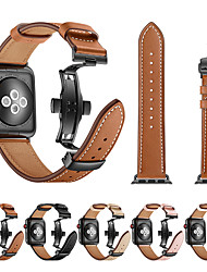 cheap -Smartwatch Band for Apple Watch Series 5/4/3/2/1 Leather Butterfly Buckle Band iwatch Strap