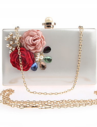 cheap -Women's Bags PU Leather / Polyester Evening Bag Flower for Wedding / Event / Party White / Blushing Pink / Wedding Bags
