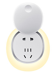 cheap -LED Night Light / Wall Plug Nightlight Rechargeable / Safety / Smart DC Powered 1pc