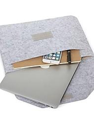 abordables -housse d'ordinateur portable en feutre de laine naturelle compatible 11-15 pouces macbook pro air ordinateur portable gris noir
