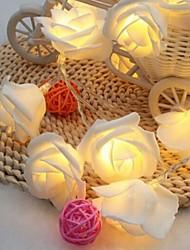 cheap -1m Rose String Lights 10 LEDs Warm White Romantic Valentine Christmas Decorative AA Batteries Powered 1 set