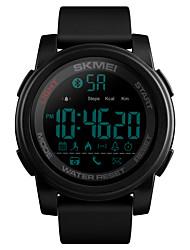 Недорогие -SKMEI Муж. Армейские часы Цифровой силиконовый Синий / Зеленый / Небесно-голубой 50 m Армия Bluetooth Smart Цифровой На открытом воздухе Мода - Черный Зеленый Синий Один год Срок службы батареи