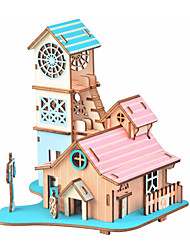 abordables -Puzzles en bois Jeux de Logique & Casse-tête Architecture Maison Fait à la main Interaction parent-enfant En bois 1 pcs Enfant Adulte Jouet Cadeau