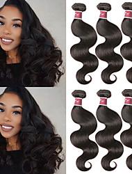 cheap -6 Bundles Malaysian Hair Body Wave Unprocessed Human Hair 100% Remy Hair Weave Bundles Natural Color Hair Weaves / Hair Bulk Extension Bundle Hair 8-28 inch Natural Color Human Hair Weaves Odor Free