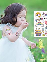 Недорогие -10 pcs Временные татуировки Экологичные / Защита от влаги Лицо / Корпус / руки Экологически чистые чернила