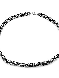 cheap -Men's Chain Necklace Classic Mariner Chain XOXO Simple Classic Fashion Stainless Steel Black 60 cm Necklace Jewelry 1pc For Gift Daily Street Festival