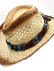 cheap -Wheat Straw / Basketwork Headwear with Braided Strap / Trim 1 Piece Daily Wear / Outdoor Headpiece