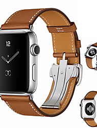 cheap -Watch Band for Apple Watch Series 4 Apple Butterfly Buckle Genuine Leather Wrist Strap