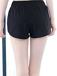 cheap -Women's High Waist Yoga Pants Shorts Thermal / Warm Breathable Black Gym Workout Running Fitness Sports Activewear Stretchy Loose