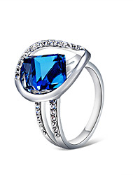 cheap -Women's Ring Crystal 1pc Silver Silver-Plated Imitation Diamond Alloy Artistic Trendy Fashion Party Holiday Jewelry Cool