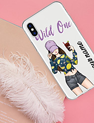 cheap -Case For iPhone XS Max 8 Plus Back Case Soft Cover TPU  Fashion Girl  Soft TPU for iPhone X 7 Plus 7 6 Plus 6 5 SE 5S 5 8 XR XS