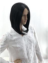 Недорогие -Wig Accessories Матовое стекло Естественные прямые Стиль Средняя часть Машинное плетение Лента спереди Парик Черный Искусственные волосы 12 дюймовый Жен. Для вечеринок Женский Sexy Lady Черный Парик
