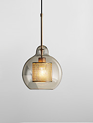 cheap -1-Light 25 cm Pendant Light Glass Glass Lantern Electroplated Globe 110-120V 220-240V