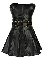 abordables -Zip Robes Corset - Texturé, Style floral / Boucles Femme Noir L XL XXL