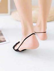 abordables -1 paire Femme Chaussettes Standard Couleur Pleine Leg Shaping Coton EU36-EU46