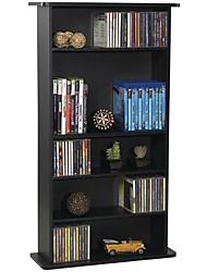 Недорогие -черный шкаф для хранения мультимедиа с регулируемыми полками