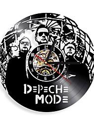 Недорогие -3d черный творческий винил lp часы записи режим depeche рок-группа круглые настенные часы