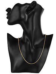 cheap -Men's Chain Necklace Classic Cheap Classic Basic Fashion Brass Gold Plated Gold 46,56,61,66 cm Necklace Jewelry 1pc For Daily Work