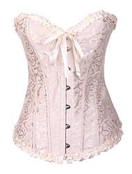abordables -Crochet Corset - Toile, Boucles Femme Grandes Tailles Rouge Beige Arc-en-ciel XXXXL XXXXXL XXXXXXL