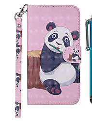 cheap -Case For Samsung Galaxy Galaxy M10(2019) / Galaxy M20(2019) / Galaxy M30(2019) Wallet / Card Holder / with Stand Full Body Cases Panda Hard PU Leather