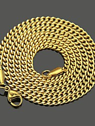 cheap -Men's Chain Necklace Classic Mariner Chain Punk Rock Stainless Steel Gold Silver 60 cm Necklace Jewelry 1pc For Daily Street