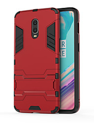 cheap -Case For OnePlus One Plus 7 Shockproof / with Stand Back Cover Armor Hard PC
