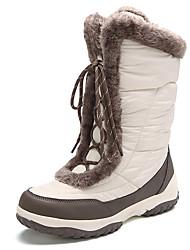 abordables -Femme Bottes de neige Bottes d'hiver Daim Nylon Ski Ski alpin Etanche Antidérapant Hiver