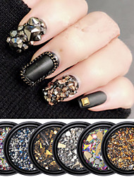 cheap -1 pcs Special Design Synthetic Gemstones Nail Jewelry Rhinestones For Finger Nail Fashion Vintage Theme nail art Manicure Pedicure Daily Punk / Fashion