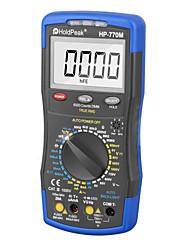 cheap -HoldPeak Digital Multimeter HP-770M Auto Range RMS Detector AC/DC Ammeter Voltmeter Ohm NCV HFE Transistor Tester multimetro