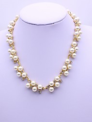 cheap -Women's Necklace Imitation Pearl Chrome Gold Silver 40+5 cm Necklace Jewelry 1pc For Daily