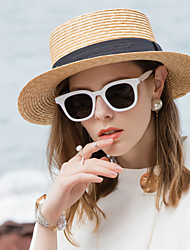 cheap -Natural Fiber Straw Hats with Plain Top 1pc Casual / Daily Wear Headpiece