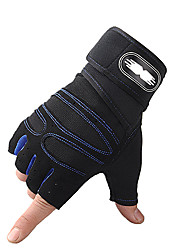 cheap -Bike Gloves / Cycling Gloves Anti-Slip Skidproof Fingerless Gloves Sports Gloves Black Black / Red Blue for Teen Cycling / Bike