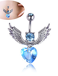 cheap -Women's Body Jewelry 3.2 cm Navel Ring / Belly Piercing Cubic Zirconia Silver Trendy Alloy Costume Jewelry For Carnival / Festival Summer