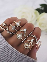 cheap -Ring Gold Crystal / Rhinestone Alloy 10pcs / Women's / Ring Set