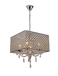 "cheap -QINGMING® 4-Light 43(17"") Crystal Chandelier Metal Drum Painted Finishes Modern Contemporary 110-120V / 220-240V"
