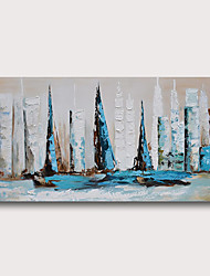 cheap -Hand Painted Stretched Oil Painting Canvas Ready to hang Abstract  Style Material High Quantity Wall Art Modern Seascape Sailboats