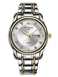 cheap -WLISTH Men's Steel Band Watches Analog Quartz Luxury Calendar / date / day Noctilucent