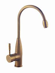 cheap -Kitchen faucet - Single Handle One Hole Antique Brass / Antique Copper / Electroplated Standard Spout Centerset Contemporary / Antique Kitchen Taps