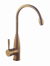 cheap -Kitchen faucet - Single Handle One Hole Antique Brass / Antique Copper / Electroplated Standard Spout / Tall / High Arc Centerset Contemporary / Antique Kitchen Taps