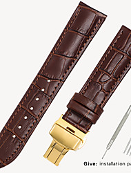 cheap -Leather strap men's leather watch with bracelet accessories ladies substitute dw Tissang Longines Casio Europe and the United States King 16/18/19/20mm