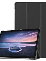 Недорогие -Кейс для Назначение SSamsung Galaxy Tab S4 10.5 (2018) Защита от удара / Авто Режим сна / Пробуждение Чехол Однотонный Твердый Кожа PU / пластик